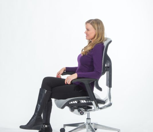 Cute chick in the X-Chair